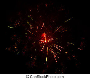Fireworks in the sky at night as a background