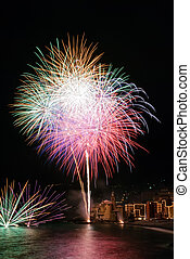 Fireworks in the village Camogli - Annual fireworks in the ...