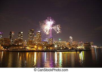 Fireworks in Toronto, Ontario, Canada