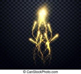 fireworks., luminoso, oro, petardo, vacanza, festivo, sfavillante, esplosione, notte, petardo, sparks., comets., celebrazione, firework