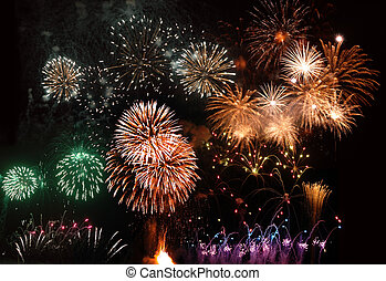 fireworks, madera