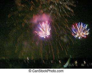 Fireworks. Moscow. - Fireworks in the night sky. Moscow. A ...