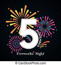 Fireworks Night Design for 5th November