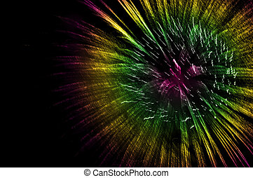 fireworks of colors on a white background