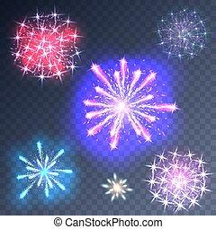 Fireworks on a transparent background