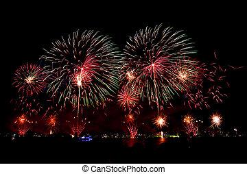 Fireworks on Australian day in Perth 2015
