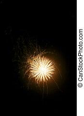 Fireworks on Black - A display of fireworks against a black ...