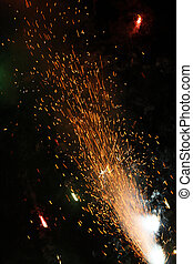 Fireworks on New Year's Eve Party