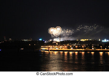 fireworks on the big river
