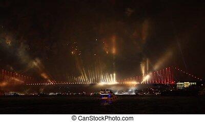 Fireworks over Bosphorus - Fireworks over the Bosporus...