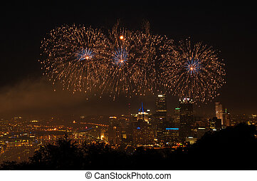 Fireworks over Pittsburgh