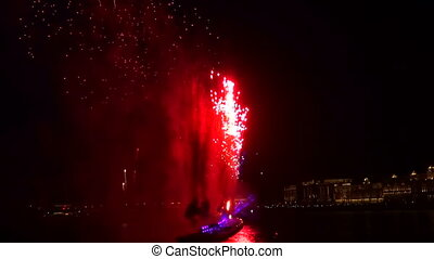 Fireworks over the Neva in St. Petersburg
