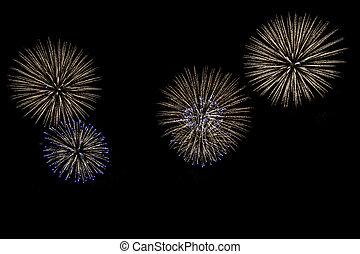 fireworks, per, taglio, fuori.