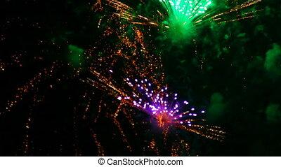 Fireworks rack focus