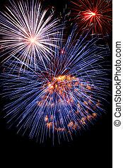 Fireworks red-white-blue