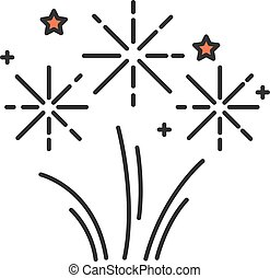Fireworks RGB color icon