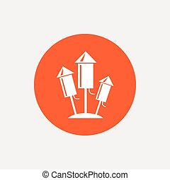 Fireworks rockets icon. Explosive pyrotechnic.