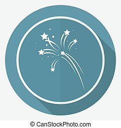 Fireworks rockets sign icon. Explosive pyrotechnic device symbol