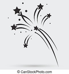 Fireworks rockets sign icon. Explosive pyrotechnic device ...