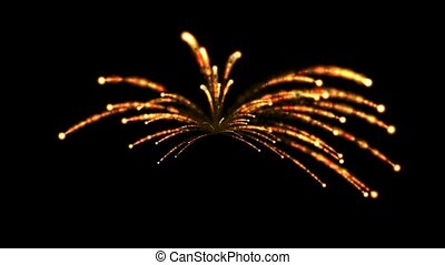 Fireworks, seamless loop, def