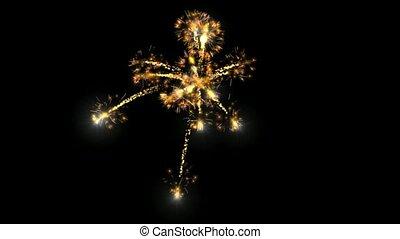 fireworks seamless loop,festival