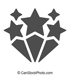 Fireworks solid icon. Celebration vector illustration isolated on white. Festive firework glyph style design, designed for web and app. Eps 10.