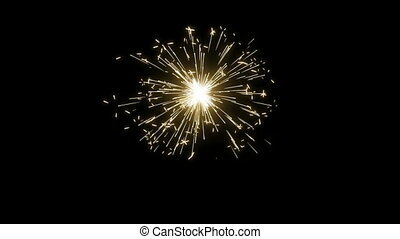 Fireworks Sparkler Loops - Seamless looping animation of...