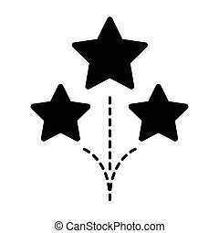 Fireworks star icon black color