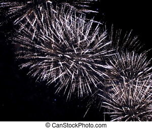 fireworks - the brightly fireworks in the dark