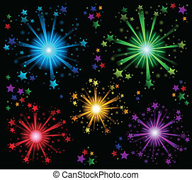Fireworks theme image 2 - eps10 vector illustration.
