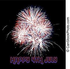 Fireworks USA flag colors