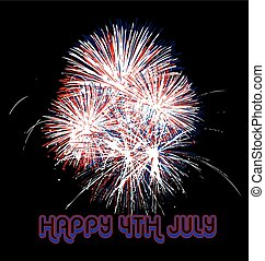 Fireworks USA flag colors - Independence day firework usa...