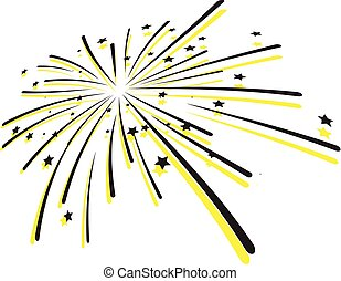fireworks, vettore, -, scoppio