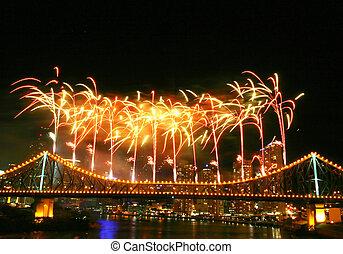 Fireworks with Copyspace - Fireworks with copyspace at the ...