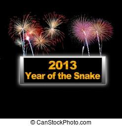 Fireworks, Year of the snake.