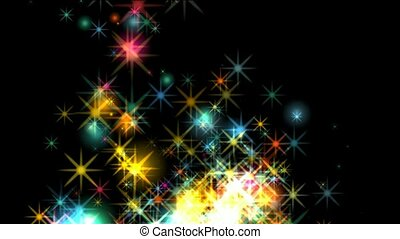 fireworks,dazzling stars,falling pa