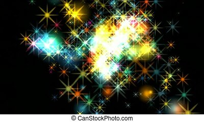 fireworks,dazzling stars,falling particle,festival and...