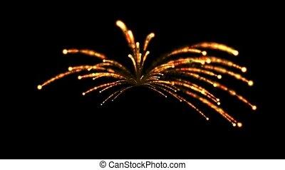 Fireworks,seamless loop,def