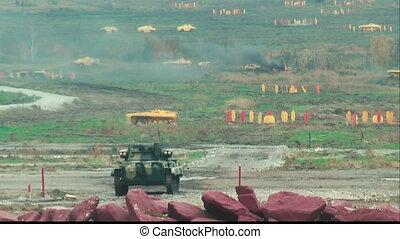 Firing anti-tank grenade from the tank - Nizhniy Tagil,...