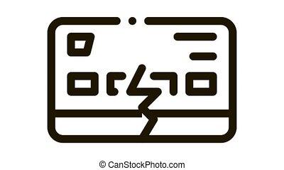 firm breakdown Icon Animation. black firm breakdown animated icon on white background