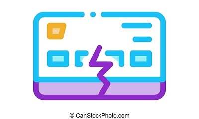 firm breakdown Icon Animation. color firm breakdown animated icon on white background
