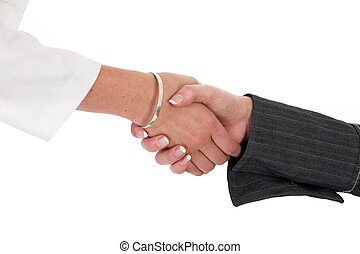 Firm Handshake - Firm female handshake