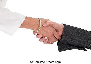 Firm Handshake - Firm female handshake