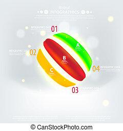 firma, abstrakt, illustration, geometriske, vektor, konstruktion, circles., præsentation, din