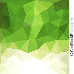 firma, abstrakt, vektor, grøn baggrund, mosaik