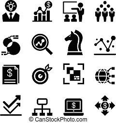 firma, analyse, ikon