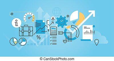 firma, analyse, og, planlægning