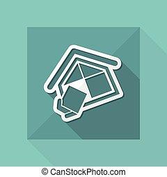 firma, baugewerbe, symbol