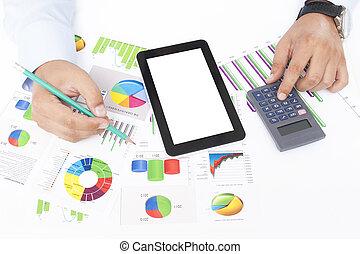 firma, data, analyserer, -, aktie, image