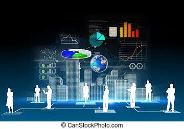 firma, data, baggrund